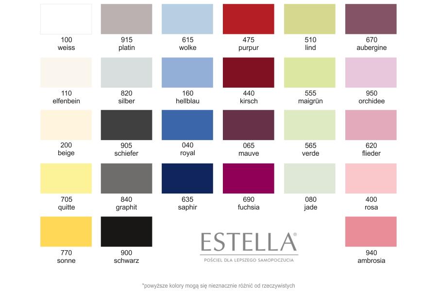 estella przescieradla kolory