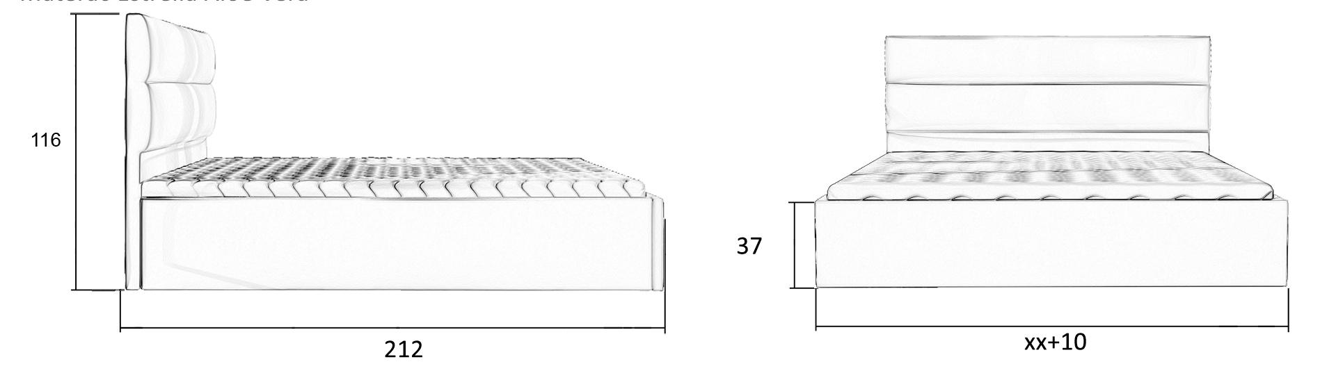 łóżko tapicerowane 81232