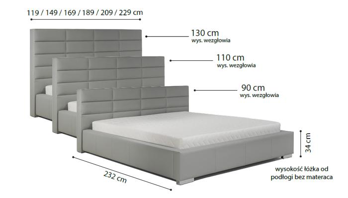 łóżko Tapicerowane Nike R
