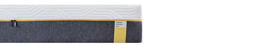 żółta etykieta materace Tempur Sensation